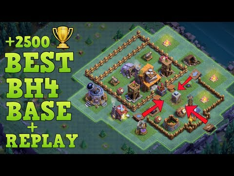 Builder Hall 4 Base / BH4 Builder Base + Defense Replay / Base Layout | Clash Of Clans