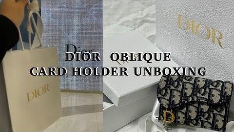 눌언박싱(5) : 디올 카드 지갑 샀어요✨😎ㅣDIOR OBLIQUE CARD HOLDER  UNBOXING📦ㅣ내돈내산💳