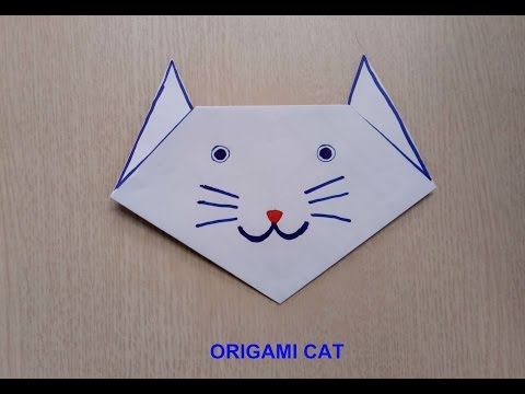 Origami cat face/easy origami for kids/diy paper toy/crafts paper cat tutorial