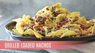 Pampered Chef recipe grilled loaded nachos.