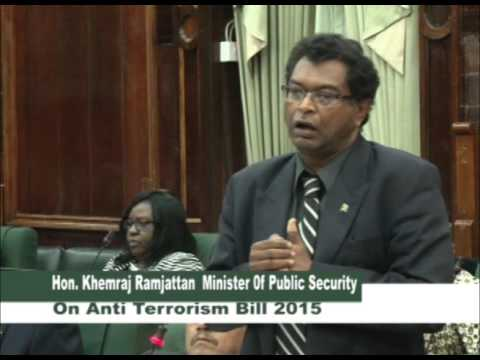 Minister Ramjattan on Anti -Terrorism Bill  - December 31, 2015