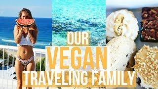 A Day in the life VEGAN traveling family | Noosa VLOG thumbnail