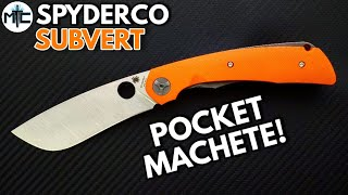 Spyderco Subvert Folding Knife - Overview and Review