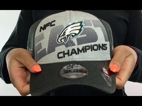 1ab03c84843 Eagles  2017 NFC EAST CHAMPS  Snapback Hat by New Era - YouTube