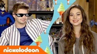 Jack Griffo & Kira Kosarin Answer Your Q's & Respond to Comments 🍗🍕 | The Thundermans | Nick