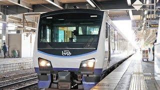 【HB-E300系】 快速「リゾートしらかみ3号」 秋田駅 接近放送~到着~発車 / JR東日本