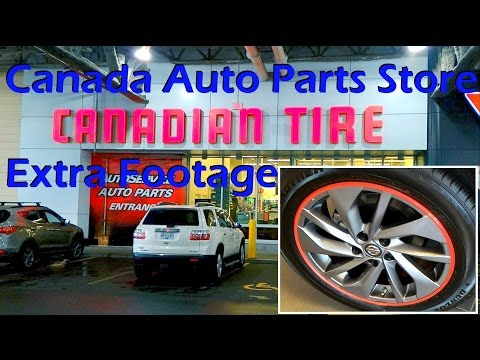 Canadian Tire Auto Parts Store And Extra Footage