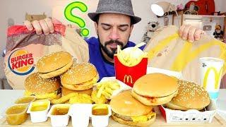 موكبانغ برغر كينغ وماكدونالدز مع مقارنة بسيطة بينهما   ماكبانغ Burger King VS McDonald's Mukbang 먹방