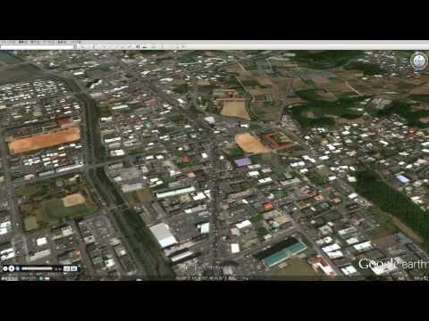グーグルアースよる沖縄本島南部一周ツアー Okinawa island southern area round tour with Google Earth