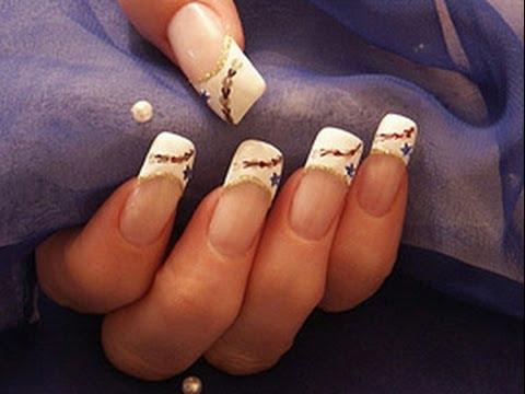 Нарощенные ногти френч - 110 фото 17