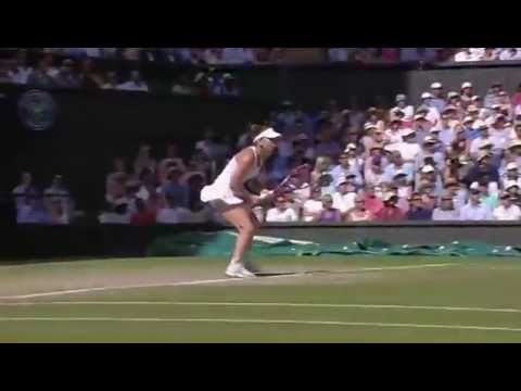 Halep wins epic point v Bouchard - Wimbledon 2014