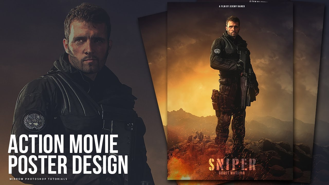 create an action movie poster manipulation effects
