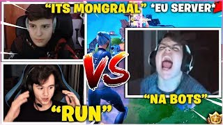 BUGHA & CLIX Freaks Out After Running Into MONGRAAL In EU Tournament! *NEW SQUAD*