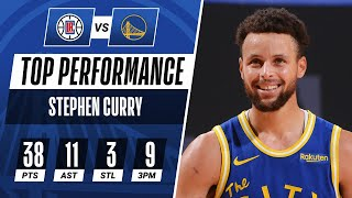 Stephen Curry GOES OFF For 38 PTS & 11 AST To Guide Warriors!