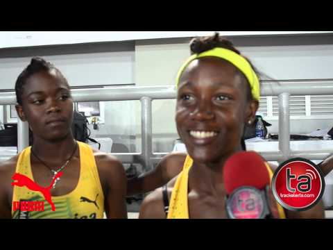 Jamaica U17 female 4x10 interview - Carifta 2013