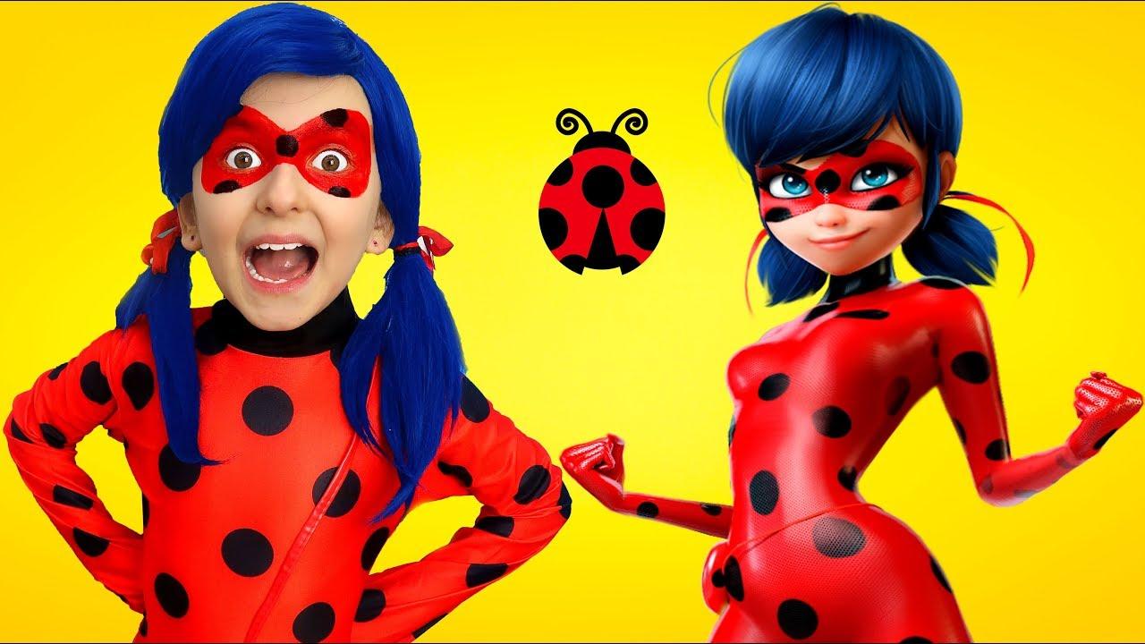Download Ladybug Princesses Showing off Their Tricks ! Super Elsa