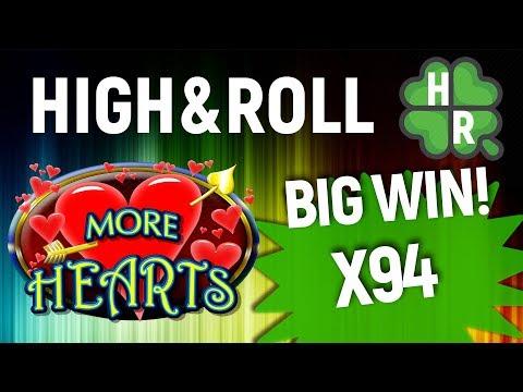 More Hearts Slot Machine Online (Aristocrat) X124 Free Bonus Game - 동영상