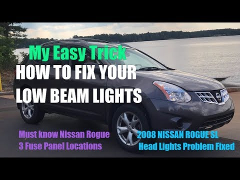 2008 nissan rogue head lights not working solved head light fuse rh youtube com 2014 nissan rogue fuse box location Freightliner M2 Fuse Box Location