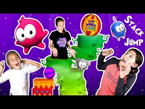 STACK JUMP FAMILY COMPETITION WITH VAMPIRE AND CIRCUS TRICKS! HIGH SPEED CHALLENGE | WPFG GAME PLAY