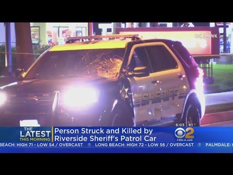 Sheriff's Cruiser Hits, Kills Pedestrian In Perris