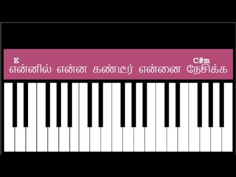 Ennil Enna Kandeer Song Keyboard Chords and Lyrics - E Major Chord