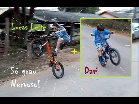 Mini Bike e Bike Trial - Graus e Manobras - Davi e Lucas Leite em Ação