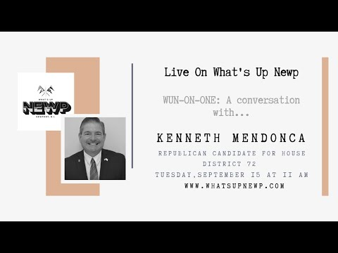 WUN-ON-ONE: A conversation with Kenneth Mendonca, candidate for House District 72