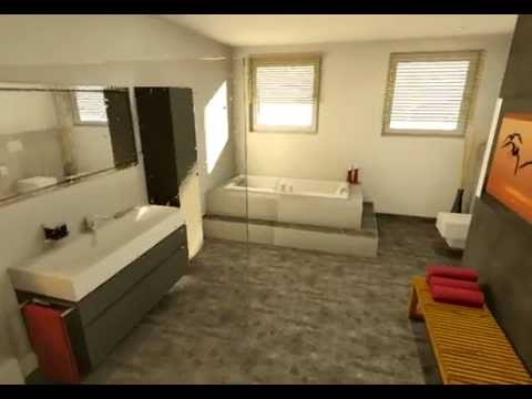 badgestaltung in 3d youtube. Black Bedroom Furniture Sets. Home Design Ideas