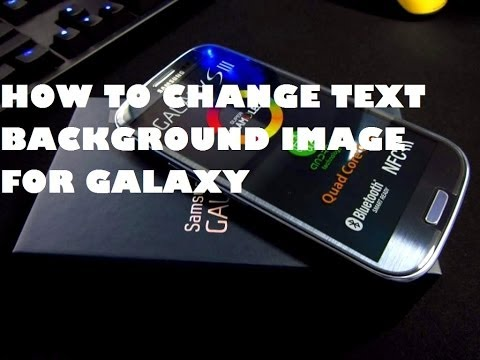 Change text message background image on Samsung Galaxy