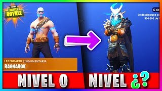 LEVEL TO IMPROVE SKIN from RAGNAROK and DERIVE TO MAXIMUM!? Fortnite: Battle Royale [BySixx]
