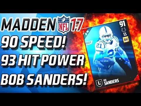 BOB SANDERS! 90 SPEED! 93 HIT POWER! THIS CARD IS TOO GOOD!- Madden 17 Ultimate Team
