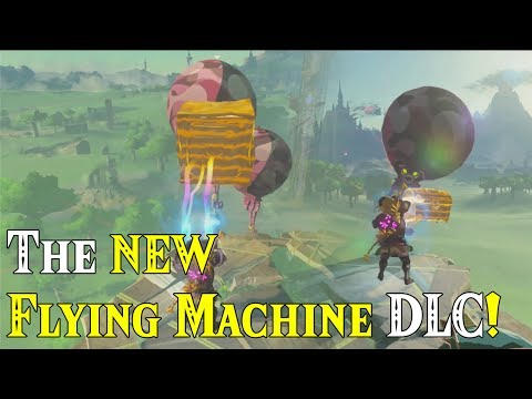 The NEW Flying Machine DLC in BotW Master Mode! NEW way to travel in Zelda Breath of the Wild DLC