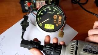 видео Счетчик оборотов двигателя - как это работает.