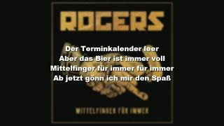 ROGERS - Mittelfinger Für Immer (Lyrics)