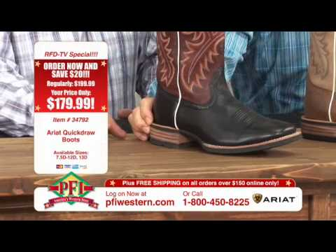 Ariat Quickdraw Cowboy Boots - YouTube