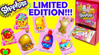 Shopkins Collector Cards with Glitter Limited Editions