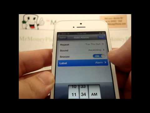 Iphone Iphone How To Set Alarm