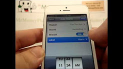 iPhone 5 - How to Set my Alarm - Apple iPhone 5 - Tutorial #22