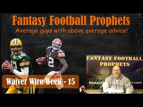 Waiver wire week 15 Fantasy Football 2017