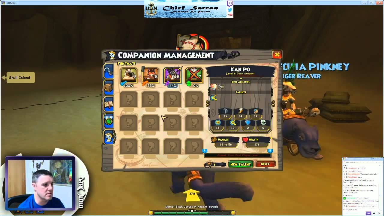 MMORPG com Franklin playing Pirate101 after the Presidi