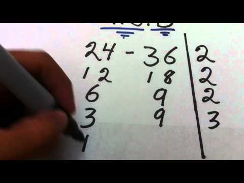 Tutorial de Matemáticas: cómo sacar máximo común divisor - Forma rápida de hallar el MCD