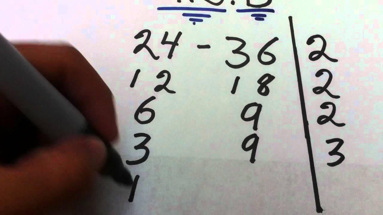 6e93e0383 Tutorial de Matemáticas  cómo sacar máximo común divisor - Forma rápida de  hallar el MCD - YouTube