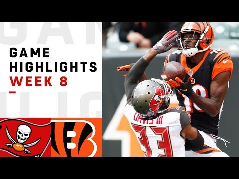 Buccaneers vs. Bengals Week 8 Highlights | NFL 2018