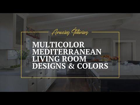 Multicolor Mediterranean Living room Designs & Colors 🖌 Decorating Ideas