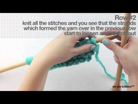 Langgezogene Maschen - WE ARE KNITTERS - YouTube