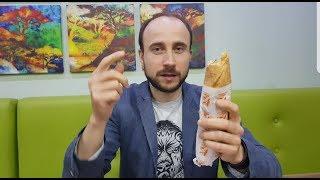 Ливанская кухня. Полезный фастфуд. Кебаб в лаваше. HD video