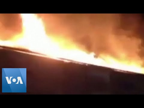 Fire Breaks Out at Residential Building After Turkey Earthquake