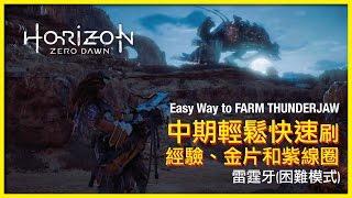 【地平線:期待黎明】中期輕鬆快速刷經驗、金片和紫線圈的攻略   Horizon Zero Dawn Mid Game Farming with easy way