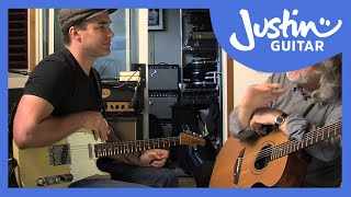 Gordon Giltrap Interview and little jam! (Acoustic Guitar Lesson MA-206)
