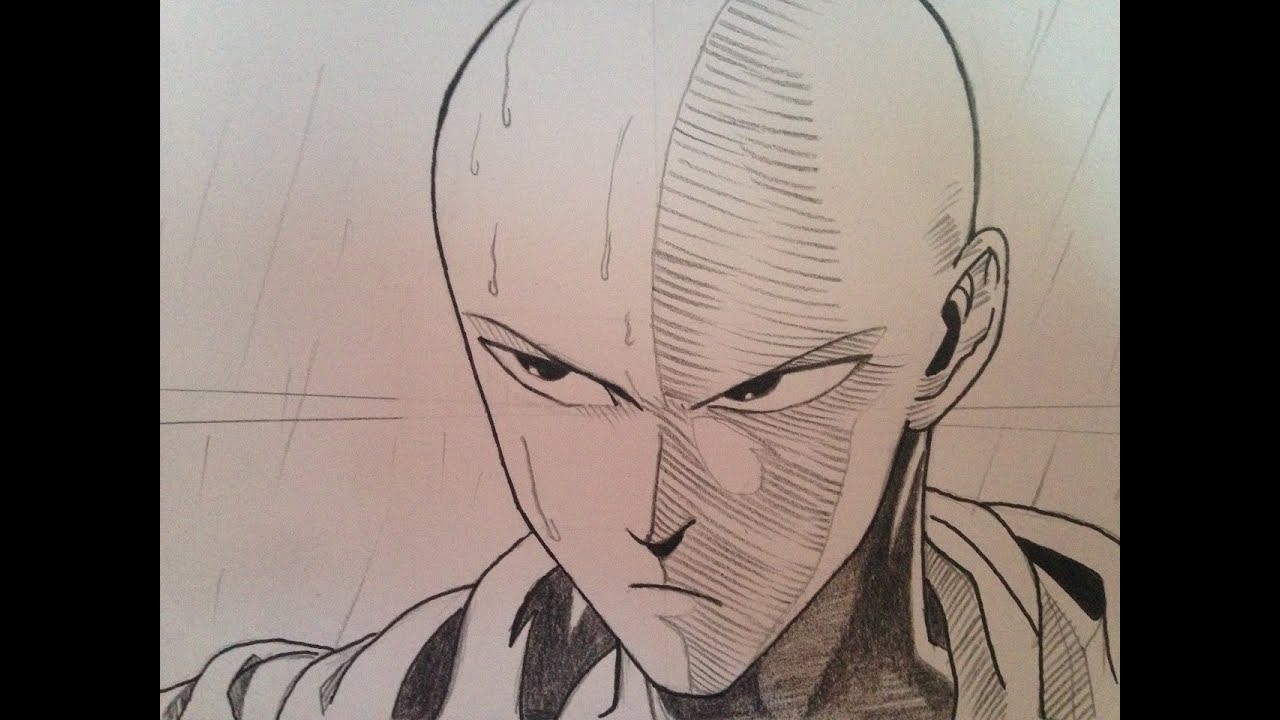 How To Draw Saitama From One Punch Man Step By Step Tutorial Youtube